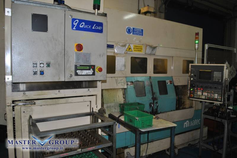 TORNIO BIMANDRINO CNC A 3+3 ASSI CON MAGAZZINO CARICO/SCARICO - USATO - MURATEC - MT 12