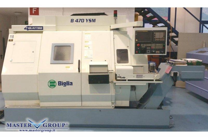 TORNIO CNC A 7 ASSI BIMANDRINO COMPLETO DI CARICABARRE - USATO -  BIGLIA - B470 YSM